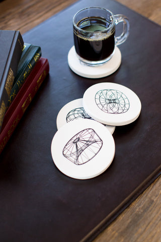 """Scaffold Coasters"" by David Bellona"