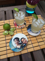 Kid Coasters on Table