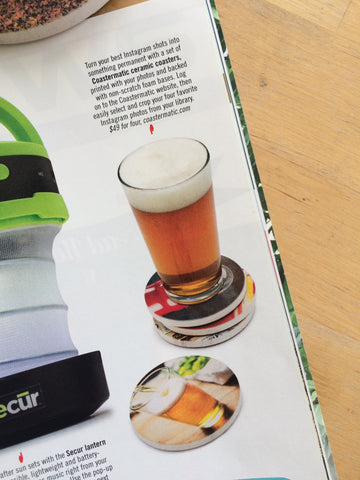 Coastermatic Coasters in DRAFT Magazine