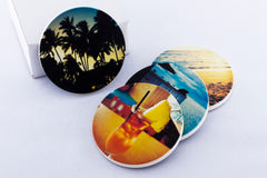 Instagram coasters of tropical photos from Maui