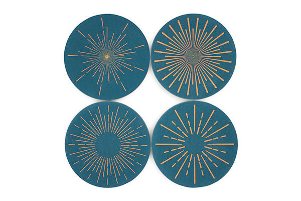 Radial drink coasters