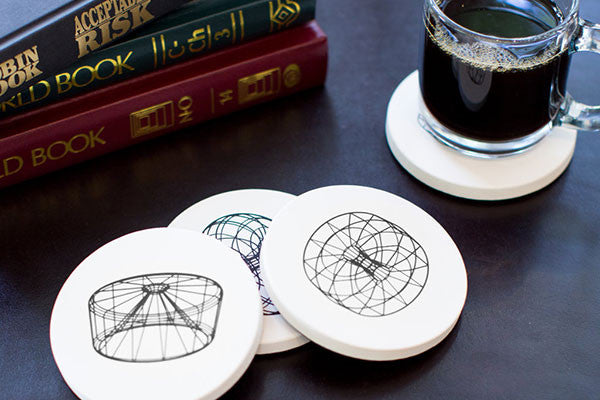 Designer Scaffold coasters by David Bellona