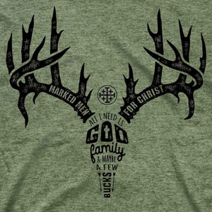 Marked Men for Christ -  Adult T - Antler Text