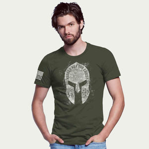 Marked Men for Christ -  Spartan Helmet Adult T-shirt