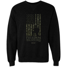 Load image into Gallery viewer, Marked Men for Christ -  Freedom Wasn't Free Adult Sweatshirt