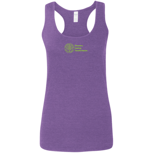 Women's Walk With Christ Discovery Healing Transformation - Softstyle - Racerback Tank