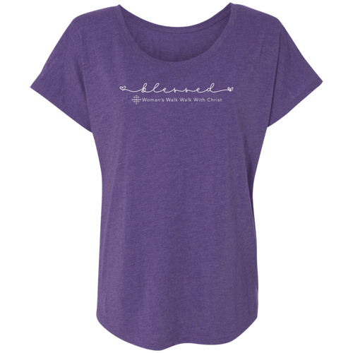 Women's Walk With Christ Triblend Dolman T-Shirt