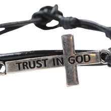 Load image into Gallery viewer, Trust In God Cross Bracelet