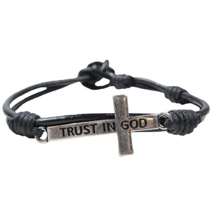 Trust In God Cross Bracelet