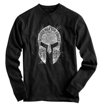 Load image into Gallery viewer, Marked Men for Christ - Adult Long Sleeve T - Spartan Helmet