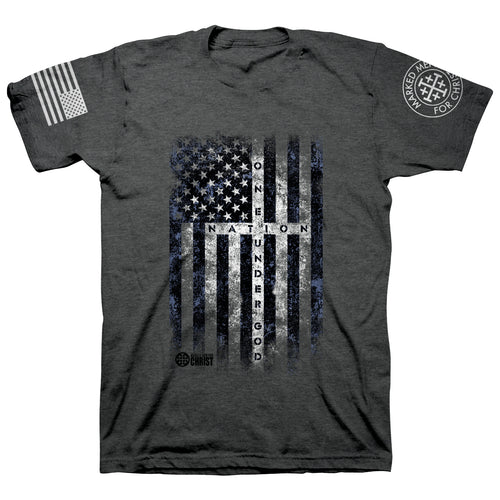 Marked Men for Christ -  Adult T - One Nation Under God