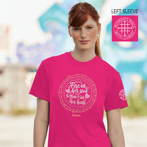 Women's Walk With Christ Fire in Her Soul T-Shirt