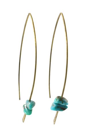 Turquoise Gemstone Earrings - Filosophy
