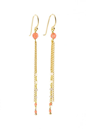 Pink Gemstone Earrings - Filosophy