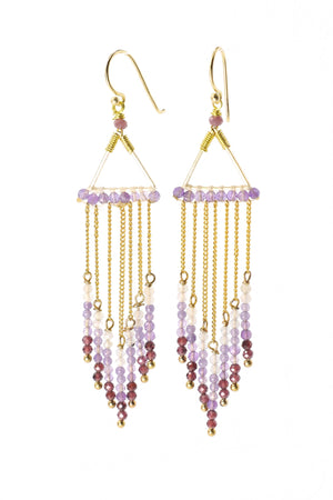 Purple Gemstone Earrings - Filosophy