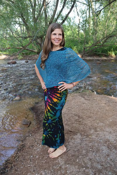 Crocheted Poncho - Turquoise - Filosophy