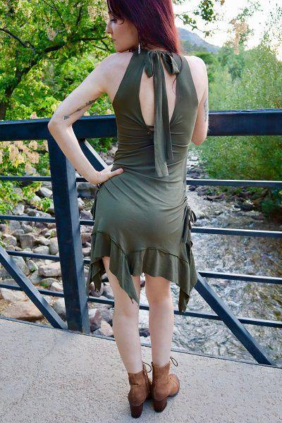 Gypsy Tank Dress - Army Green