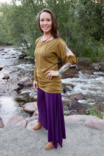 Wide Leg Dance Pants - Dark Purple