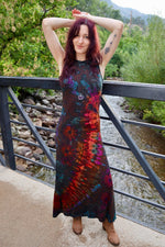 Tie Dye Long Maxi Dress - Brown Tie Dye