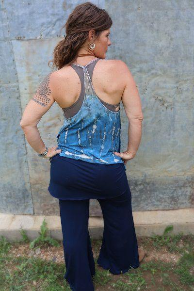 Indie Tank Top Tie Dye - Tan  Light Blue  Dark Blue