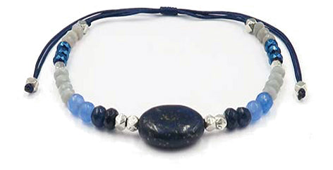 Lapis Beaded Gemstone Bracelet - Filosophy
