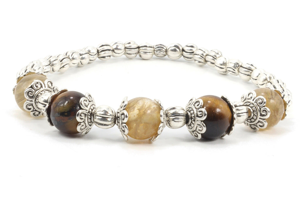 Gemstone Stretch Bracelet handmade by Filosophy