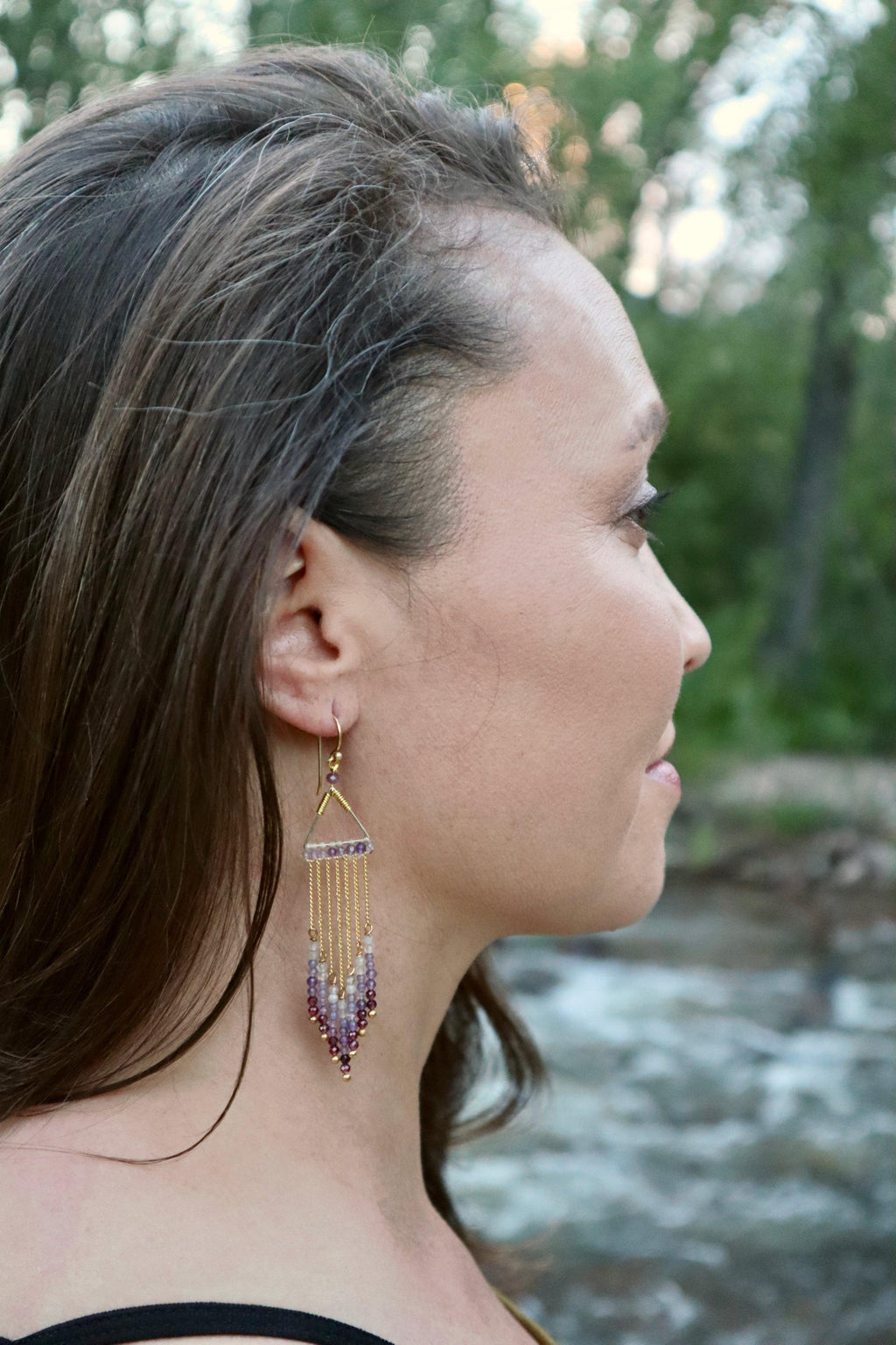 Celeste Earrings - Purple