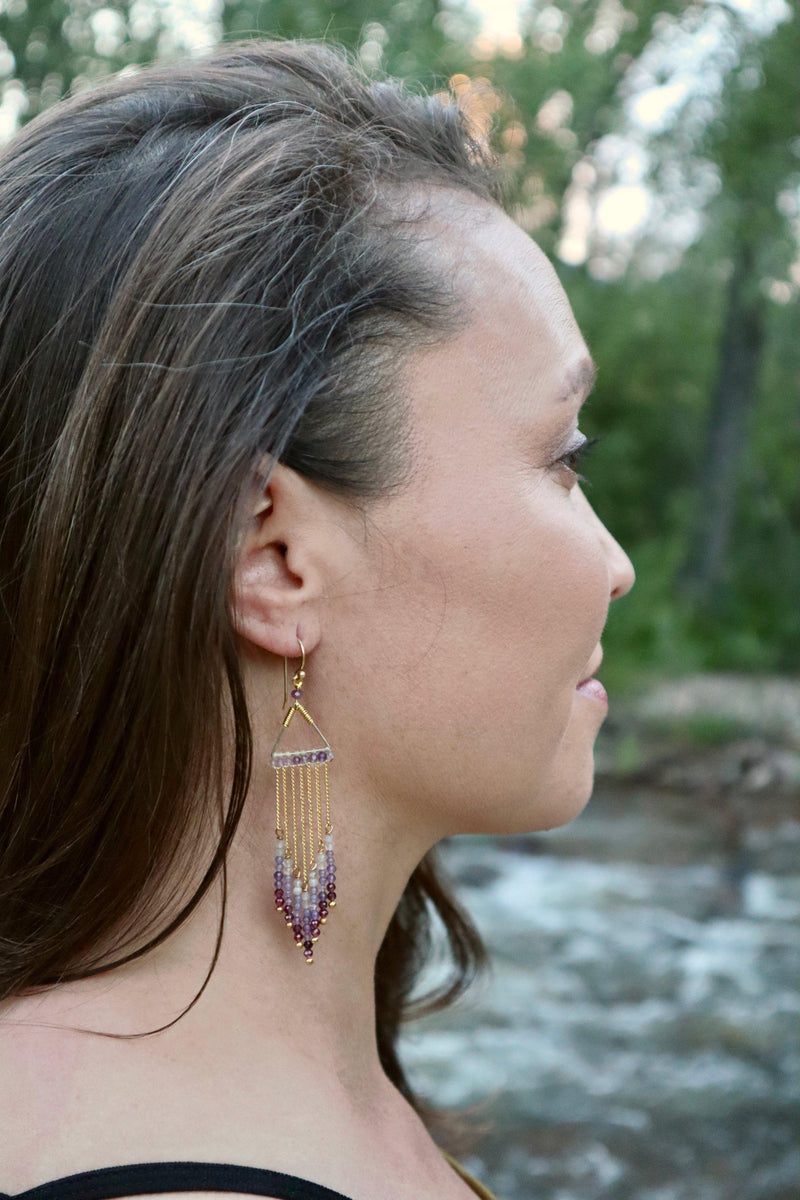 Celeste Earrings - Purple - Filosophy