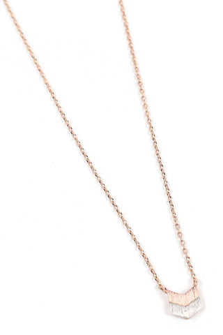 This beautiful, dainty, sexy chevron necklace is perfect when you just want a touch of sexy. Not too small, just a hint of something subtle. The rose gold chain is a flattering and unique color that really stands out from all the rest. You can layer this or keep it simple.