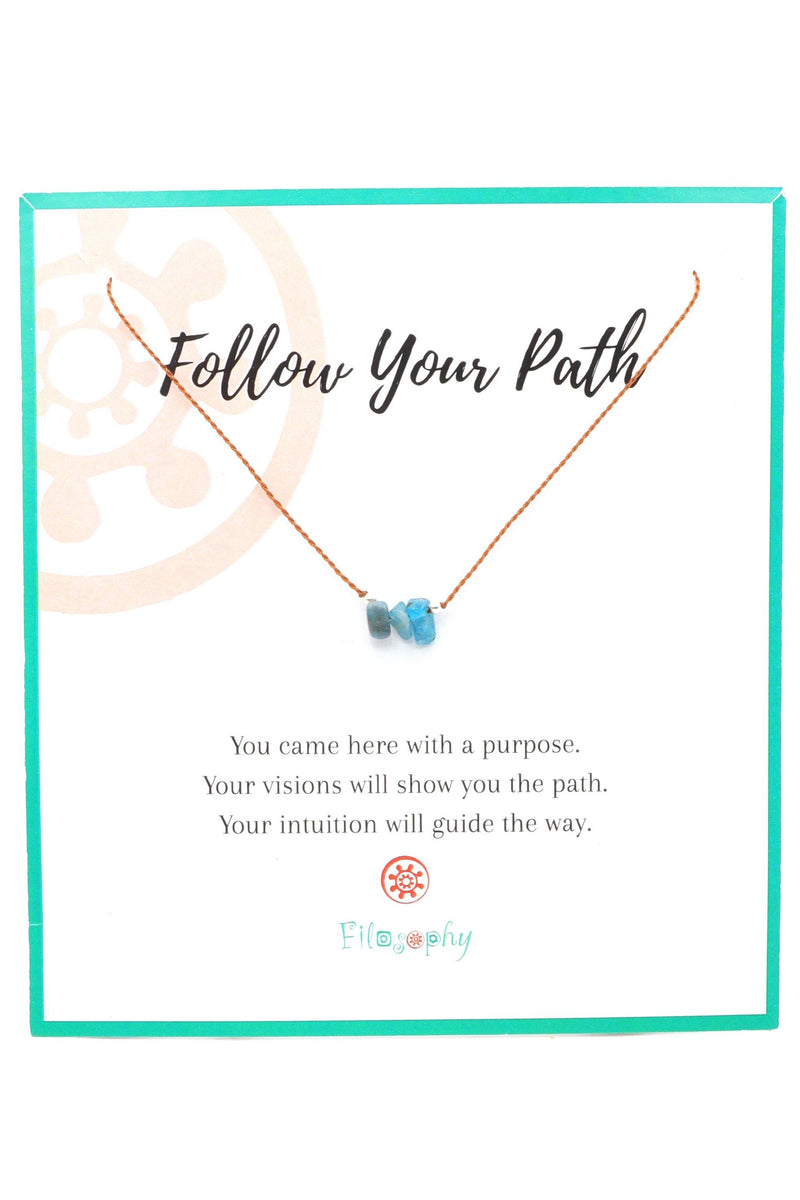 Gemstone Chip Necklace - Inspirational Card
