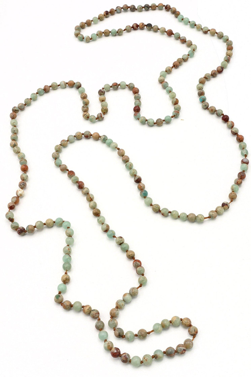 Jasper Gemstone Knotted Necklace - Filosophy