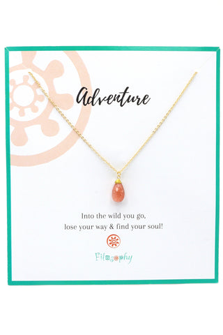 Carnelian Pendant Necklace