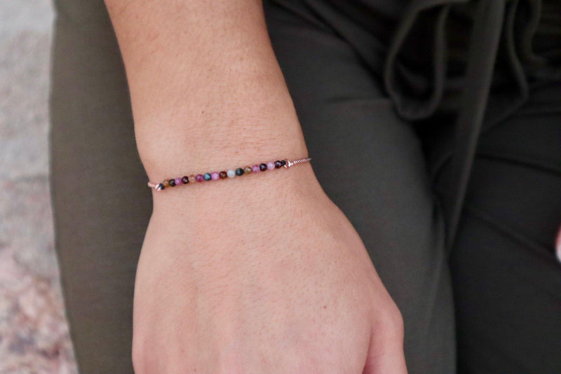 Tourmaline Slide Chain Bracelet
