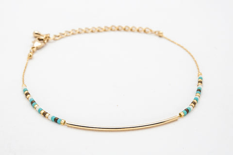 Bar Bracelet - Turquoise & Gold - Filosophy
