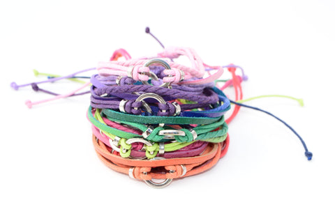 Cotton Ring Bracelet - Multi Colors - Filosophy