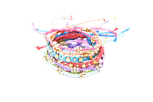 Macrame Beaded Bracelet - Multi Color - Filosophy