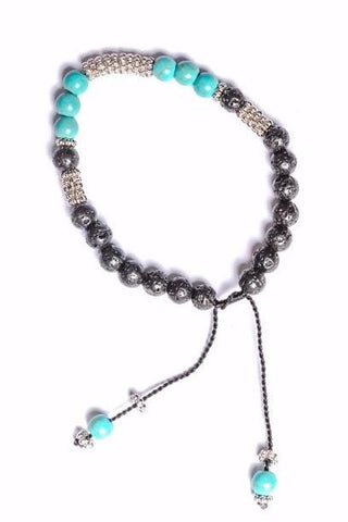 Lava Rock Bracelet with Turquoise Stone - Filosophy