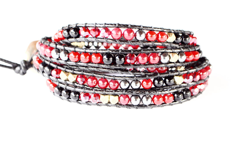 Wrap Bracelet-Red Stone - Filosophy
