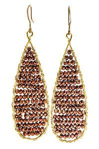 Beaded Teardrop Earrings - Large