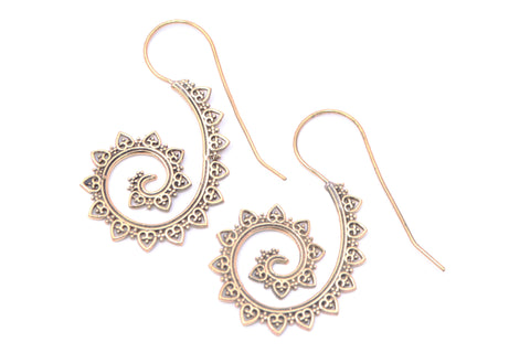 Tribal Earrings- Dangly Swirl - Filosophy