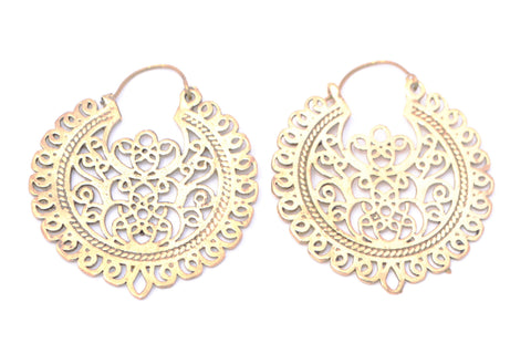 Tribal Earrings-Intricate Circles - Filosophy