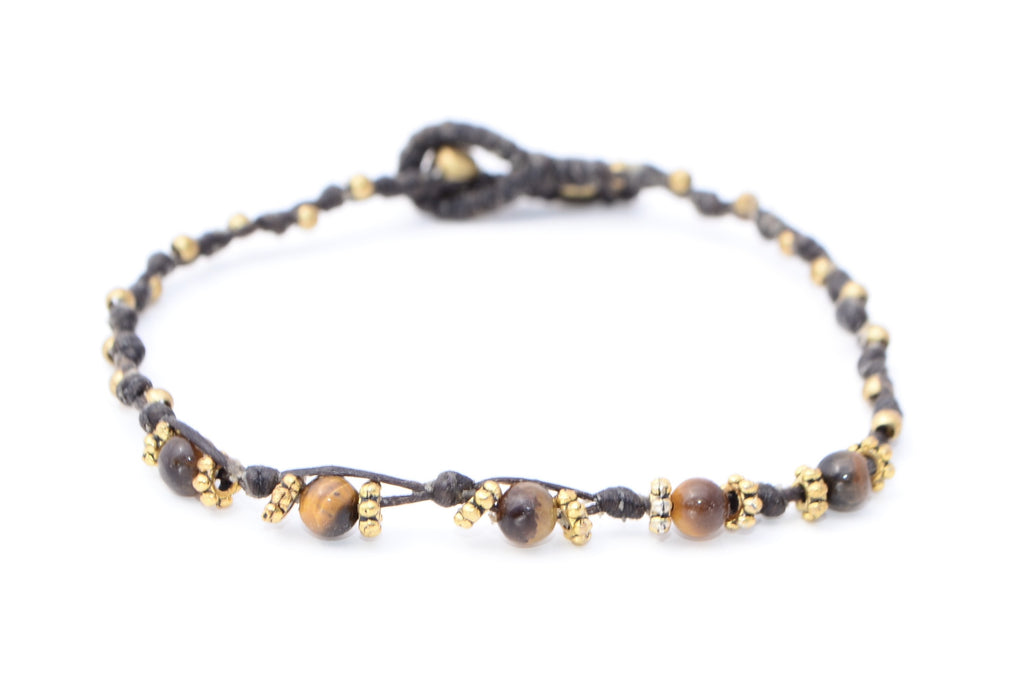 Tiger's Eye Macrame Bracelet - Filosophy