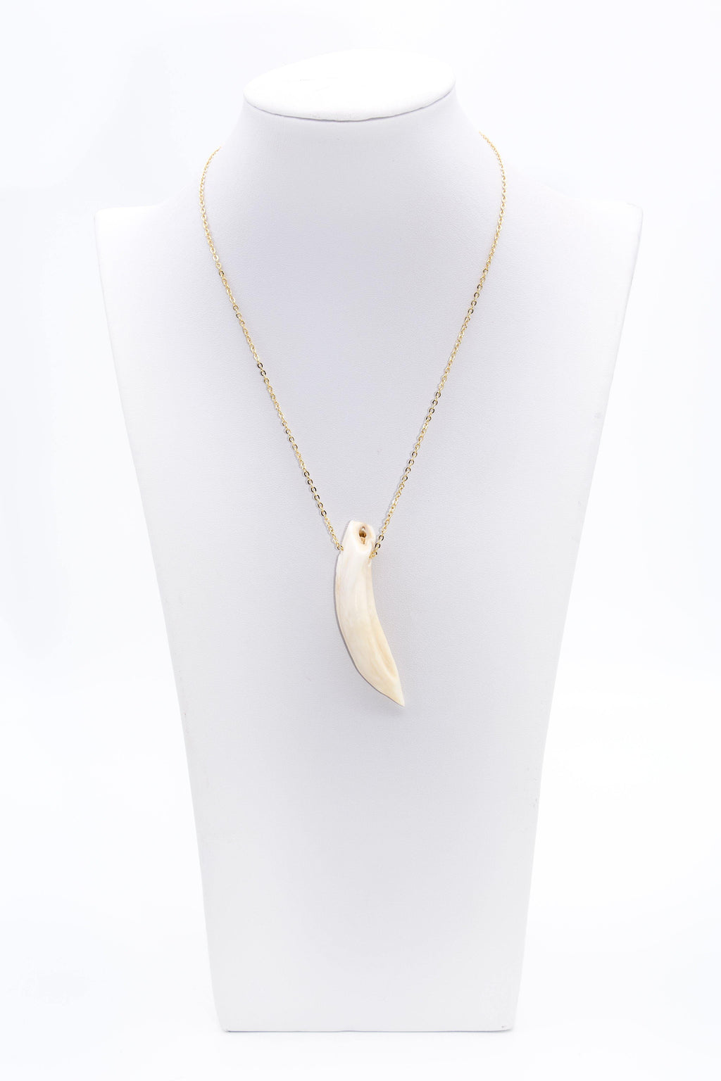 Deer Antler Pendanklacet Necklace 14K Gold Filled Chain - Filosophy