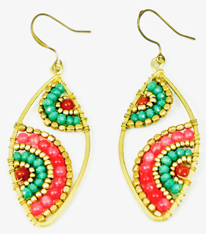 Teardrop Beaded Earring - Filosophy