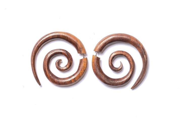 Faux Gauge Large Swirl Earrings - Filosophy