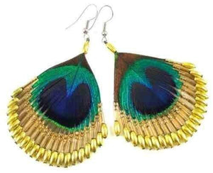 Beaded Peacock Earrings - Gold - Filosophy