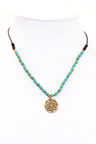 Flower of Life Stone Necklace - Filosophy