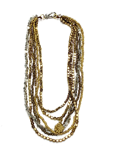 Tribal Multi Strand Beaded Necklace - Filosophy