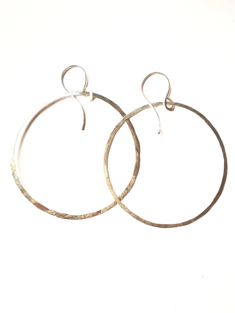 Hammered Hoops -Sterling Silver - Filosophy