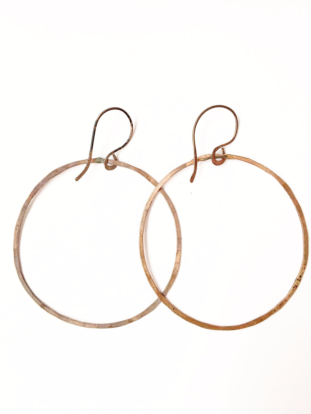 Hammered Copper Hoops - Filosophy